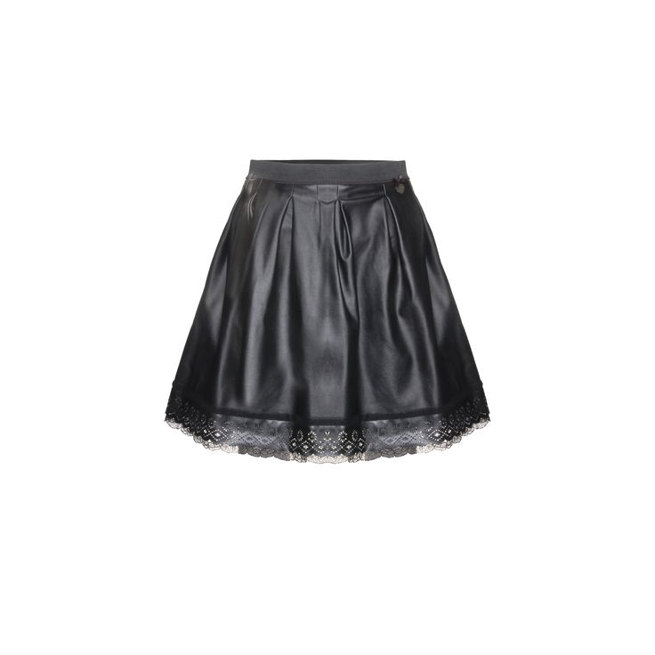 Naughty Dog #FW1415 black #skirt with lace.