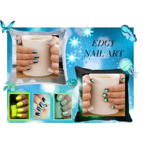 Edgy Nail Art #edgynailart by stine1online on Polyvore featuring Schönheit, nailart, zazzle and edgynailart