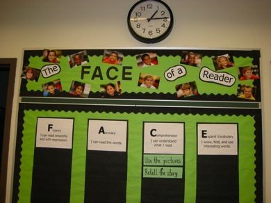 """The Daily 5: CAFE  Mix up the cafe strategy board with photos of the kids reading and call it the """"The Face of a reader""""- Would tie in nicely with the Reading for Real graphics as well.Cafes Reading Strategies, The Face, Schools Ideas, Cafes Boards, Daily 5 Cafe, Cafes Bulletin Boards, Face Reading Bulletin, Cafes K-Cup, Kids Reading"""