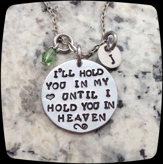Remembrance Gift Necklace, Miscarriage Jewelry, Loss of a child, friend or family, Handstamped Jewelry,