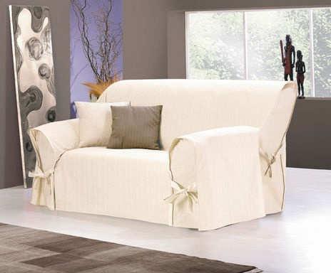 Sofaüberwurf SMART COVER, elfenbeinfarben, 2-Sitzer