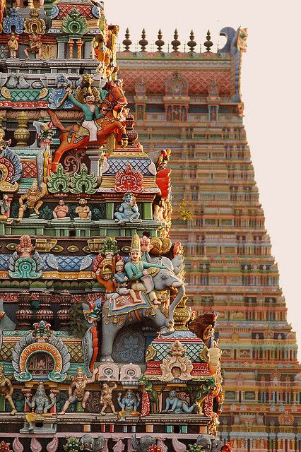 Detail of Sri Ranganathaswamy Temple, Tiruchirappally, Tamil Nadu