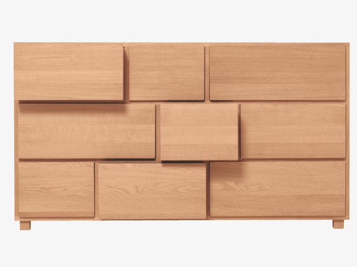 HANA WOOD Wood Low chest of drawers - Chest of Drawers- Habitat UK #design #drawers #modern