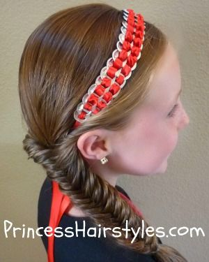 pop tab headband tutorial and fishtail braid