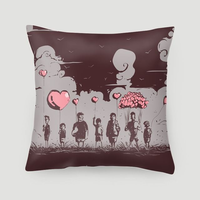 Pillow 40x40 cm (with insert) | Different of love by WD.Willy | The Different Types Of Love There Are #pillows #cushions #arts #prints #etsy #artwork #gift #design #home #decor #love #interior #trends #unique #photography #ideas #photo #inspiration #diy