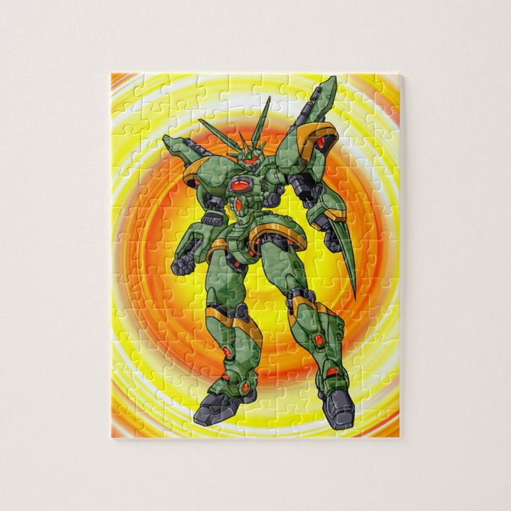 Anime camo robot jigsaw puzzle in 2020