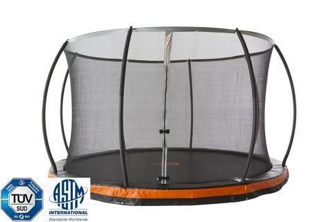 14' Round Inground Trampoline & Safety Net Enclosure Combo