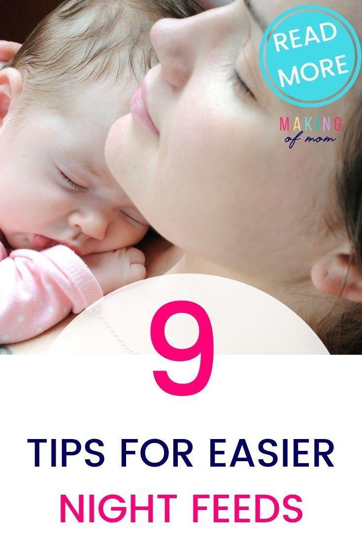 9 Tips To Make Night Feeding Baby Easier Whether You Re Breastfeeding Bottle Feeding Or Expressing Night Feeding Baby Baby Feeding Breastfeeding