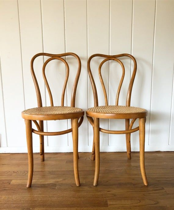 Antique Bentwood Cafe Chair Pair Thonet Style Chair Wood Dining Chair Parlor Chair Bistro Chair Free Greyhound Shipping Cafe Chairs Cane Dining Chairs Bistro Chairs