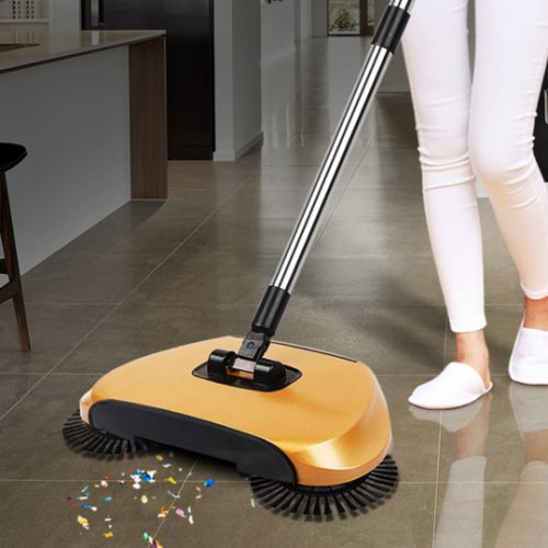 Magic Push Broom Sweeps And Cleans Without Electricity