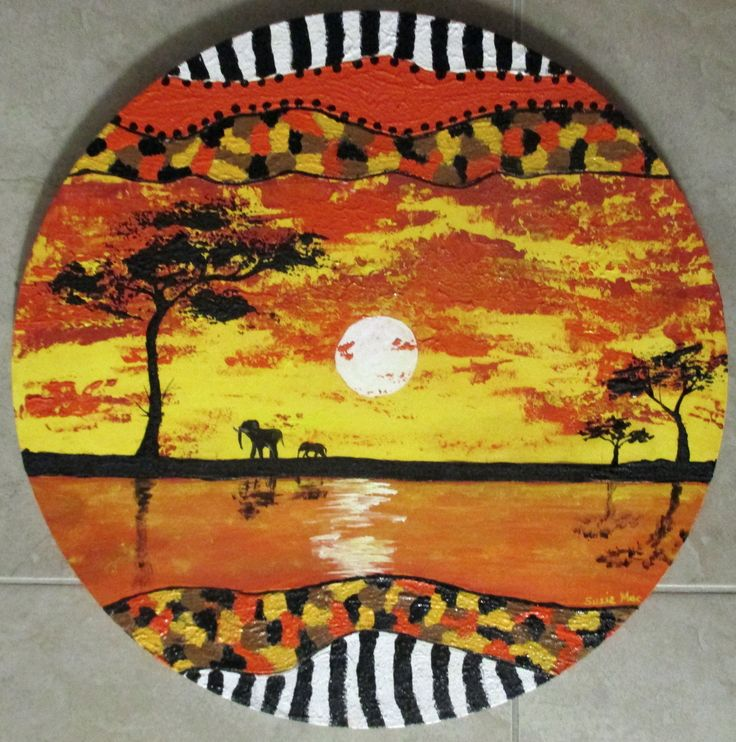 """""""African Circle"""" by Susie Mac. Paintings for Sale. Bluethumb - Online Art Gallery"""