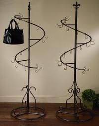 Spiral Purse Display Tree (Scarf, Purse & Fashion Displays) I NEED one of these! My purses are taking over my extra room.