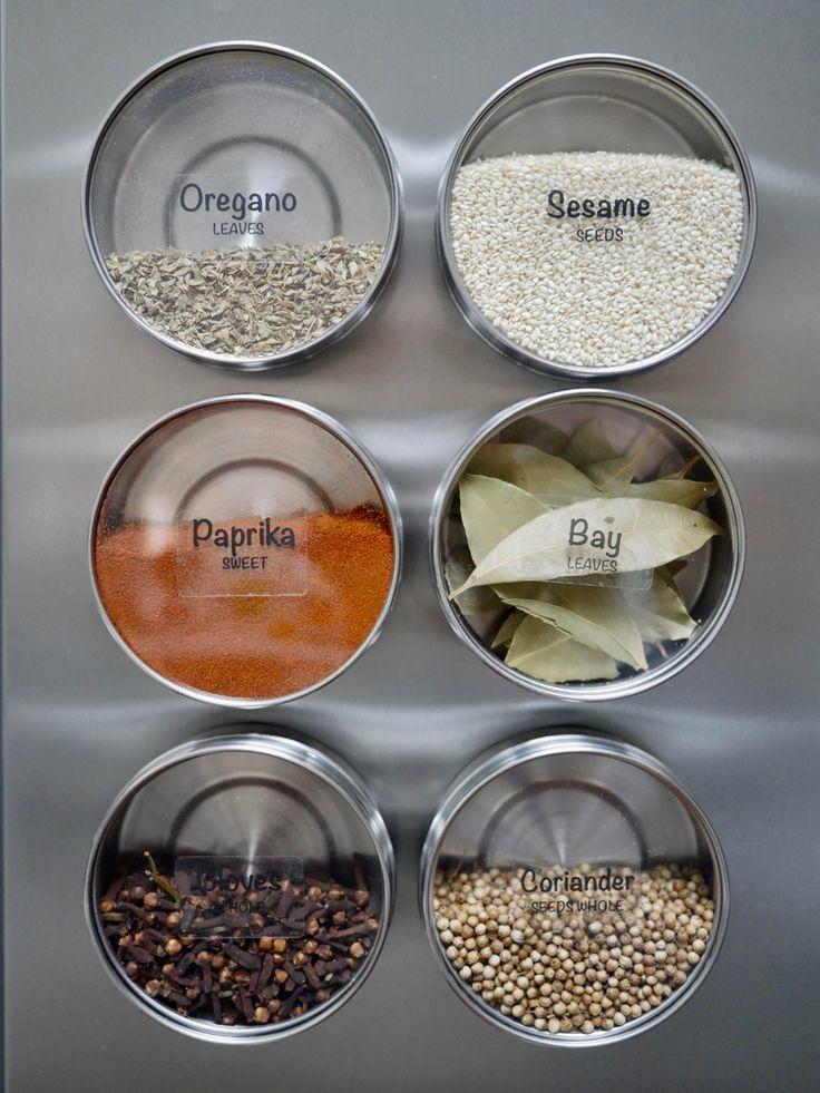 ideas  magnetic spice jars  pinterest diy spice rack spice racks  small
