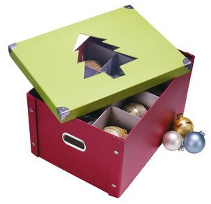 Förvaringsbox för julkulor - GÖRA SJÄLV AV GAMLA LÅDOR OCH KARTONG :)