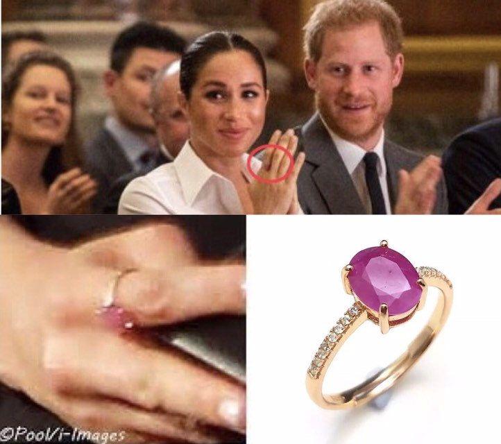 Meghan Markle Style Ruby Ring Princess Ring Royal Ruby Ring