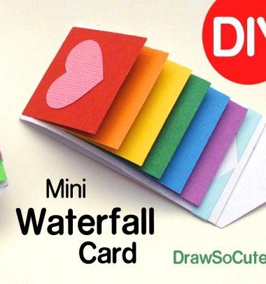DIY Waterfall message card (flip card) // Varázslatos pörgethető (vízesés) képeslap egyszerűen // Mindy - craft tutorial collection // #crafts #DIY #craftTutorial #tutorial