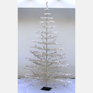 Large! 6' SILVER Aluminum CHRISTMAS TREE Vintage Style!    This fun Christmas Tree stands 6 feet tall and 42 inches wide!  It is a bright and shiny silver color.  It is a reproduction of a vintage aluminum Christmas Tree.  It has flame resistant PVC mylar covered stiff  silver wire branches.  mfg:  Local Grower  Free Shipping  $140.00 $126.00