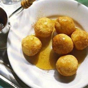 Loukoumades with honey and cinnamon