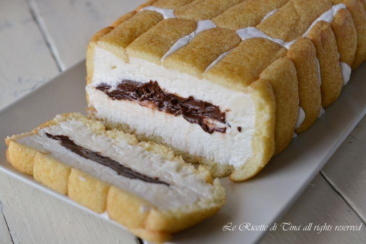 Torta con pavesini nutella e mascarpone fredda