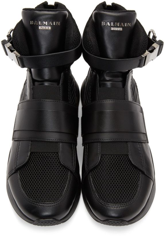 0f4c7ad2af5 Balmain - Black Exton High-Top Sneakers | My Style | Play clothing ...
