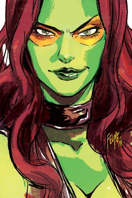Gamora sketch by Felipe Smith.  Guardians of the Galaxy, Marvel.