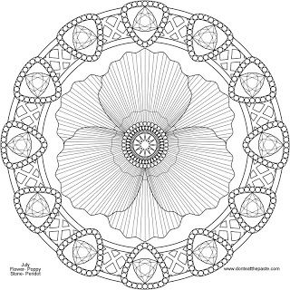 August Mandala Poppy And Peridot To Print Color