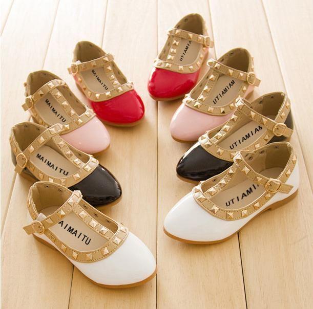 Valentino shoes sandals ss 2015 | 2014 nuove ragazze sandali bambini stivali bambini rivetti pu scarpe 4 ...