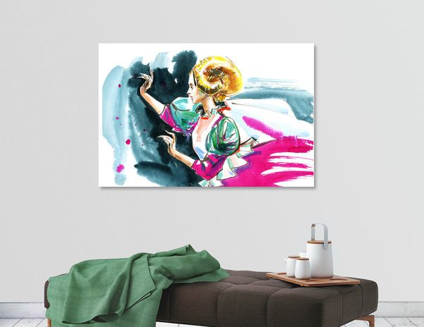 Discover «A dancing woman», Limited Edition Acrylic Glass Print by Irina Ivanova - From $99 - Curioos