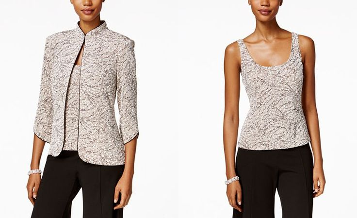 Alex Evenings Petite Jacket and Shell Set - Evening & Formal Separates - Macy's