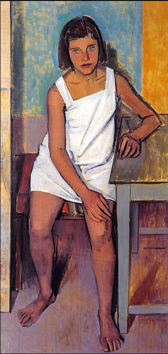 Portrait of Fani by Yiannis Moralis (Greek 1916-2009)