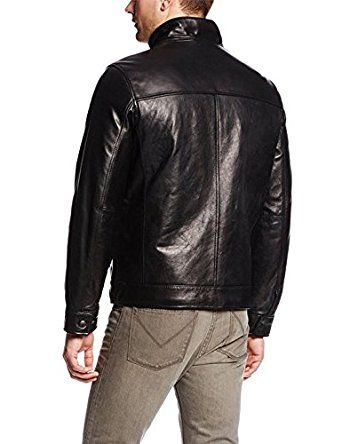 Men's Leather Jacket with Shirt Collar for sale | jackets for sale | bikers jackets for sale (XL) at Amazon Men's Clothing store: