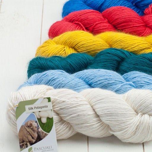 Silk Patagonia . Ein edles Naturgarn aus Maulbeerseide und Merinowolle Strickwolle Strickgarne nach Material Seide