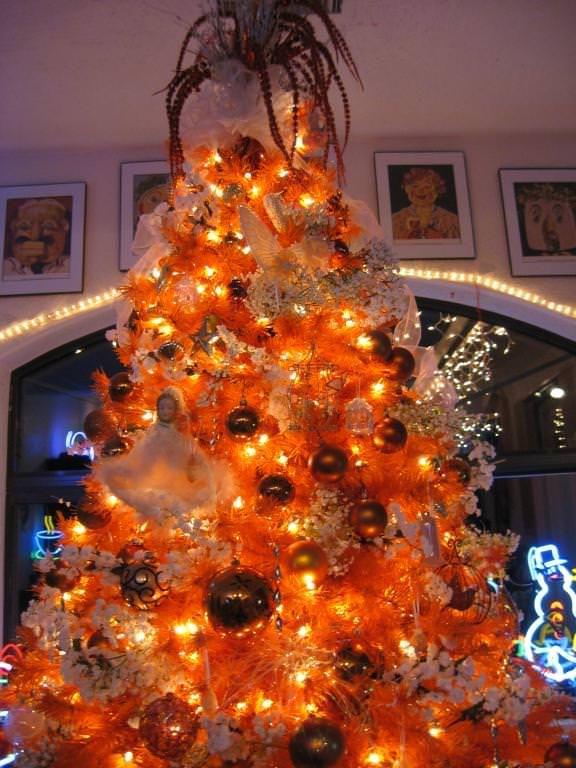 orange christmas trees - Google Search
