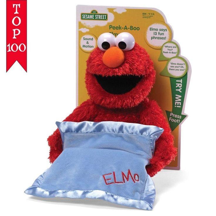 "Sesame Street Elmo Peek A Boo Sound And Motion 15"" Plush # 4038770 Gund  #GUND"