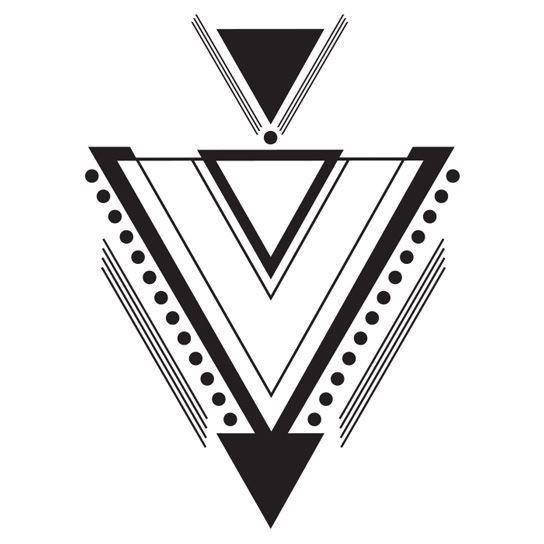 Large Geometric Art Deco Temporary Tattoo