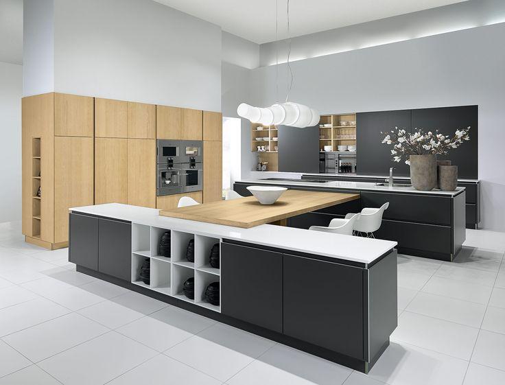 Pronorm keuken, hout, houten aanrecht, antracet, betonlook, Friesland, Leeuwarden, keukens Bakker Postma