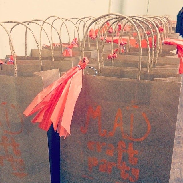 MAD Craft Party goodie bags. Makers and Designers Australia #etsy team.