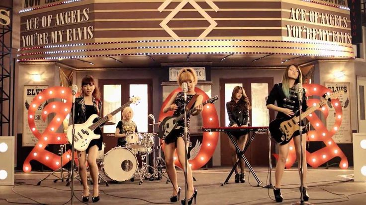 AOA - ELVIS M/V (Band Version) It looks like these girls actually play instruments!