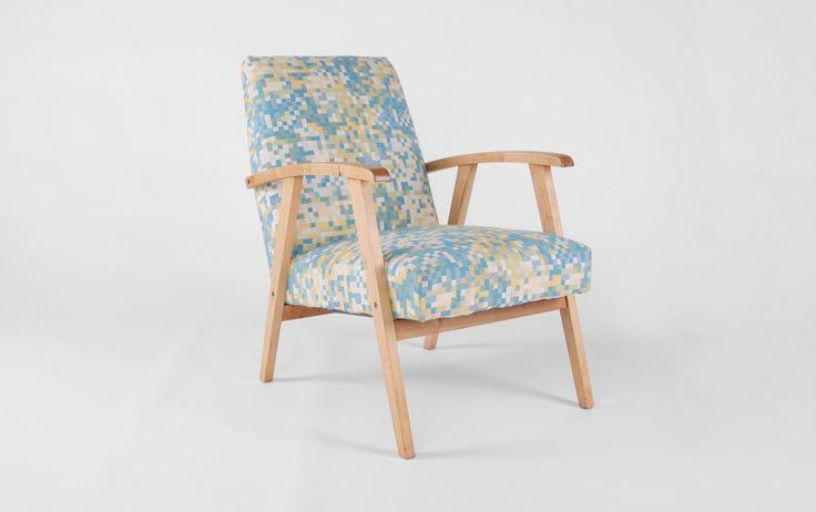Fotel na sprężynach lata 60-te - Fotele - MAGAZYN MEBLOWY.COM