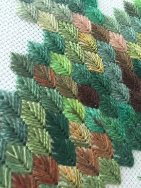 I might be a little addicted to this stitch. (I pulled out this brown…
