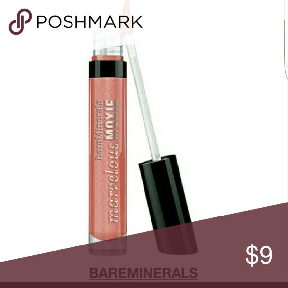 SALE. BARE MINERALS lip gloss. Tried on only. Not really for me cause i really have  dry lips. Marvelous moxie smooth talker gloss. full sized. Golden pink shade that gives a glistening shine to the lips. Sephora Makeup Lip Balm & Gloss