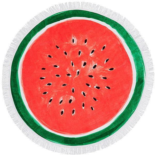 Watermelon Round Beach Towel Target Australia (165 ILS) ❤ liked on Polyvore featuring home, bed & bath, bath, beach towels, round beach towel and circular beach towel