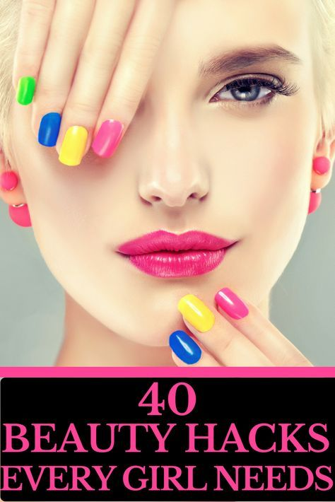 40 Beauty Hacks That Will Save You Time & Money An amazing list of beauty tips from how to fix a broken lipstick to DIY manicures. Every girl should know these life changing beauty hacks that will save you time and money. If you're on a budget & you're looking for the best beauty tips & tricks around this is a must read! #DIYManicure