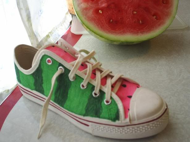 Watermelon Crafts | All I used were some permanent makers. This is my first time doing ...