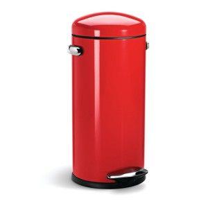 Poubelle Simplehuman Retro rouge 30 L http://www.ideesboutique.com/poubelles/8505-poubelle-simplehuman-retro-rouge-30-l.html