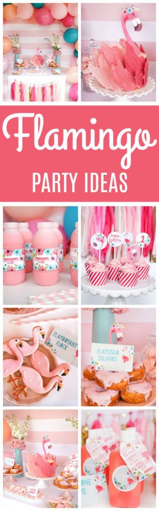 Fabulous Flamingo Birthday Party featured on Pretty My Party