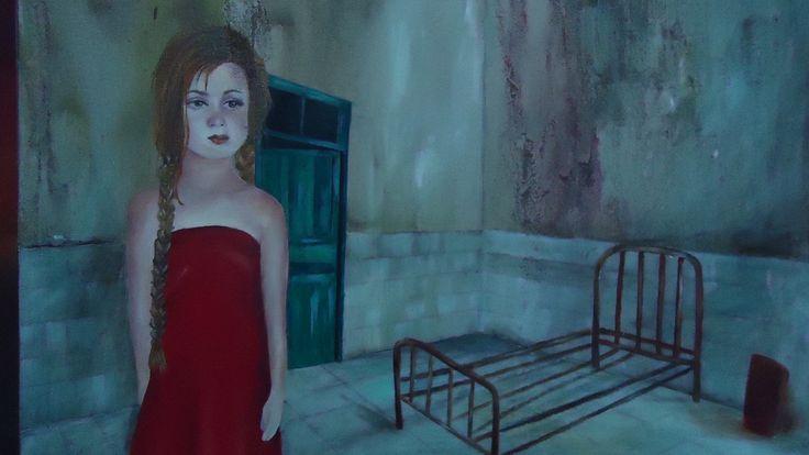 es una de las mas emotivas,pintada en oleo y acrílico.
