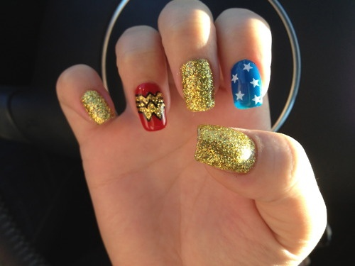 Wonder Woman Nails