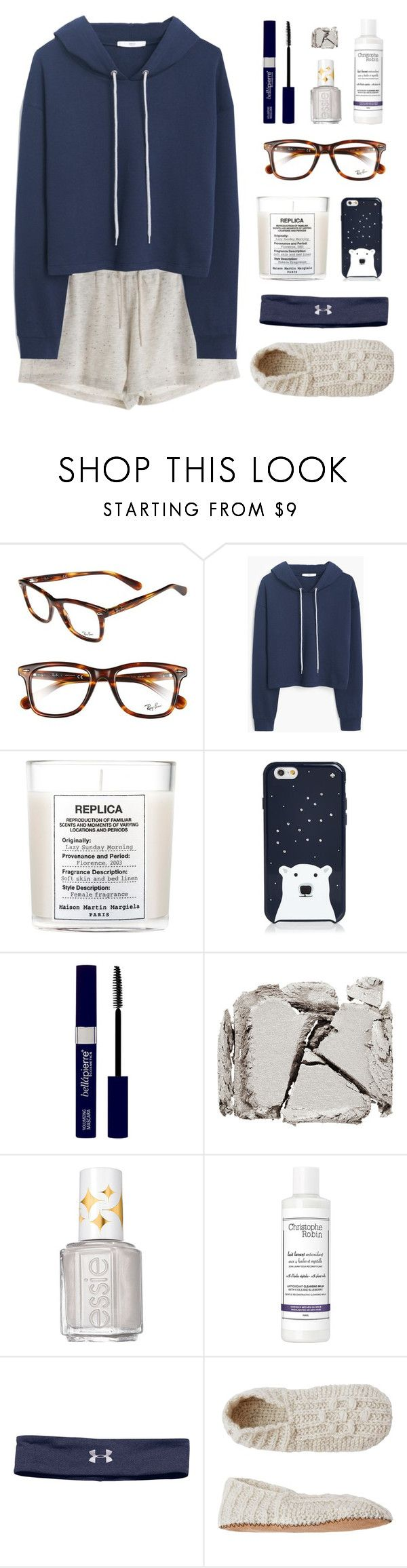Lazy Day by amazing-abby ❤ liked on Polyvore featuring Ray-Ban, MANGO, Maison Margiela, Kate Spade, Surratt, Essie, Christophe Robin, Under Armour, Toast and womens clothing