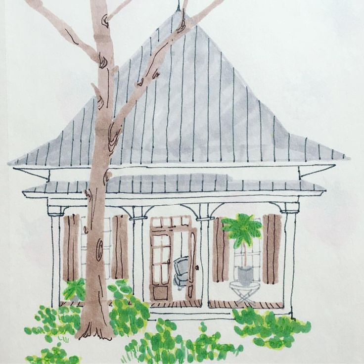 16 mentions J'aime, 1 commentaires – Helise (@scandipan) sur Instagram : «Little house 🏡🏡 #illustration #copicmarker #stabilopoint88 #house #houseillustration #scandipan»